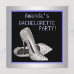 Glitter High Heels Purple Bachelorette Party Invitation