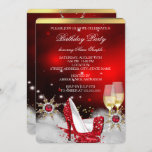 Glitter Red High Heel Shoes Silver Gold Champagne Invitation