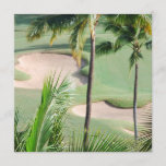 Golf Course in Tropics Invitations