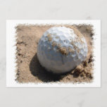 Golf Sand Pit Design Invitation