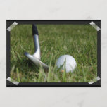 Golfing Photo Invitation