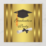 Graduation Cap Diploma Graduation Party Invitation