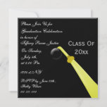 graduation hat back, Graduation party Invitation
