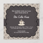 Grand Opening Coffee House Invitation