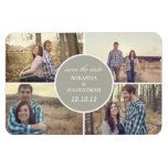 Gray Circle Design Photo Save The Date Magnet