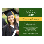 Green and Gold Graduation Invitation Class of 2013