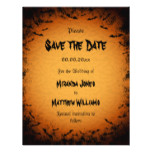 Halloween Save the Date invitation with bats