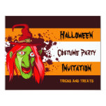 "Halloween Witch Costume Party Invitation 5.5""x4.25"