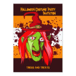 "Halloween Witch Costume Party Invitation 5"" x 7"""