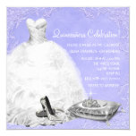 High Heel Shoes Purple Princess Quinceanera Invitation