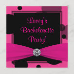 Hot Pink Bubbles Hot Pink Bachelorette Party Invitation