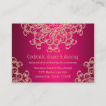 Hot Pink Gold Indian Inspired Enclosure Card