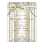 Ivory Pearl Quinceanera Card