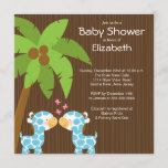 Jungle Giraffe Multiple Baby Shower Invitations