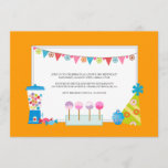Kids Birthday Party Invitations {Candy Buffet}