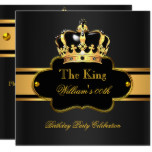 King Queen Royal Black Gold Birthday Men or Women Card