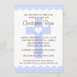 Lace Cross Baby Boy Baptism Inviation Invitation