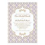 Light Purple Gold Moroccan Wedding Invitations