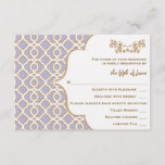 Light Purple Gold Moroccan Wedding Response Cards
