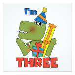Little Dino 3rd Birthday Tshirts and Gifts Card