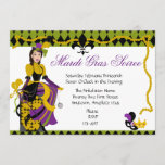 Mardi Gras Beauty Invitation