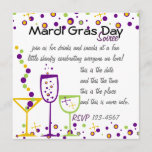 Mardi Gras Cocktails Invitation