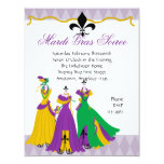 Mardi Gras Dress Shop Invitation