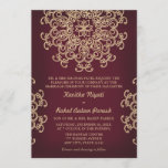 Maroon AND GOLD INDIAN STYLE WEDDING INVITATION