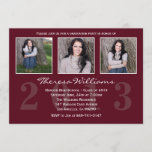 Maroon Graduation Announcement
