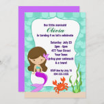Mermaid Under The Sea Pool Party Invitation