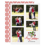 Merry Christmas, snowflakes photo collage Card