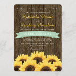 MINT RUSTIC SUNFLOWER WEDDING INVITATION