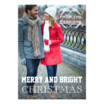 Modern Christmas vintage elements Groupon photo Card