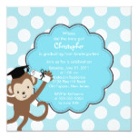 Monkey Grad Graduation Invitation for Boys
