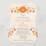 Monogrammed Fall Pumpkin Wedding Invitations