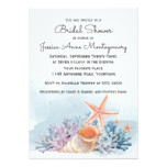 Nautical Seashells and Coral Bridal Shower Card