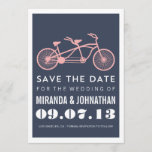 Navy Bicycle Design Photo Save The Date Invites