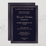Navy Classy Corporate party Invitation