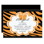 Orange and Black Tiger Print Card