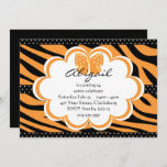 Orange and Black Tiger Print Invitation