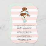 Pamper Bridal Shower Invitations Spa Day Brunette