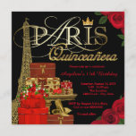 Paris Quinceanera Invitation