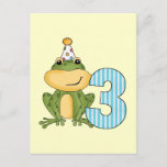 Party Frog 3rd Birthday T-shirts and Gifts Invitation Postcard