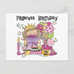 Party Princess 2nd Birthday Tshirts and Gifts Invitation Postcard