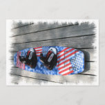 Patriotic Wakeboard Invitation