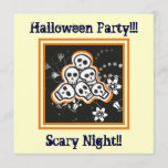 Pile of cute skulls Halloween custom products Invitation