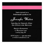 PINK and BLACK Rose Bridesmaid Luncheon Invitation
