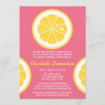 PINK AND YELLOW LEMON THEMED BRIDAL SHOWER INVITATION