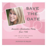 Pink Photo Graduation Party Save the Date Card