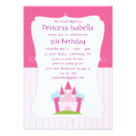 Pink Princess Castle Birthday Card